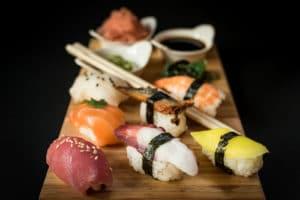 Nabídka čerstvého sushi